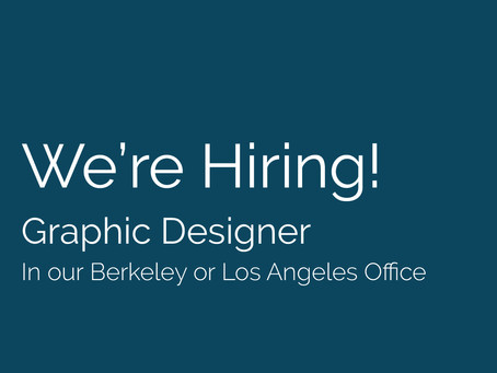 We're Hiring! Seeking a Graphic Designer to join our team.