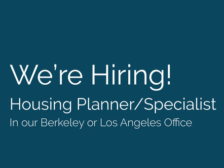 We're Hiring! Seeking a Housing Planner/Specialist to join our team.