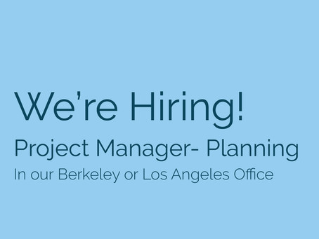 We're Hiring! Seeking a Planning Project Manager to join our team!