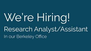 Seeking a Research Analyst/Assistant to join our team!