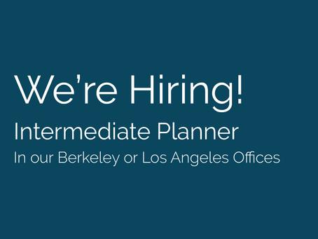 Seeking an Intermediate Planner to join our team!