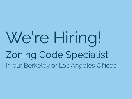 We're Hiring! Seeking a Zoning Code Specialist to join our team!