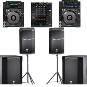 """DJ services """"With"""" sound system"""