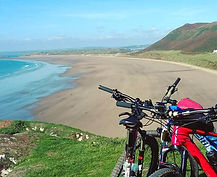 mountain bikes overlooking Rhosilli.jpg