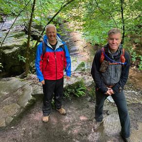 BBC Wales Weatherman Walking Filming