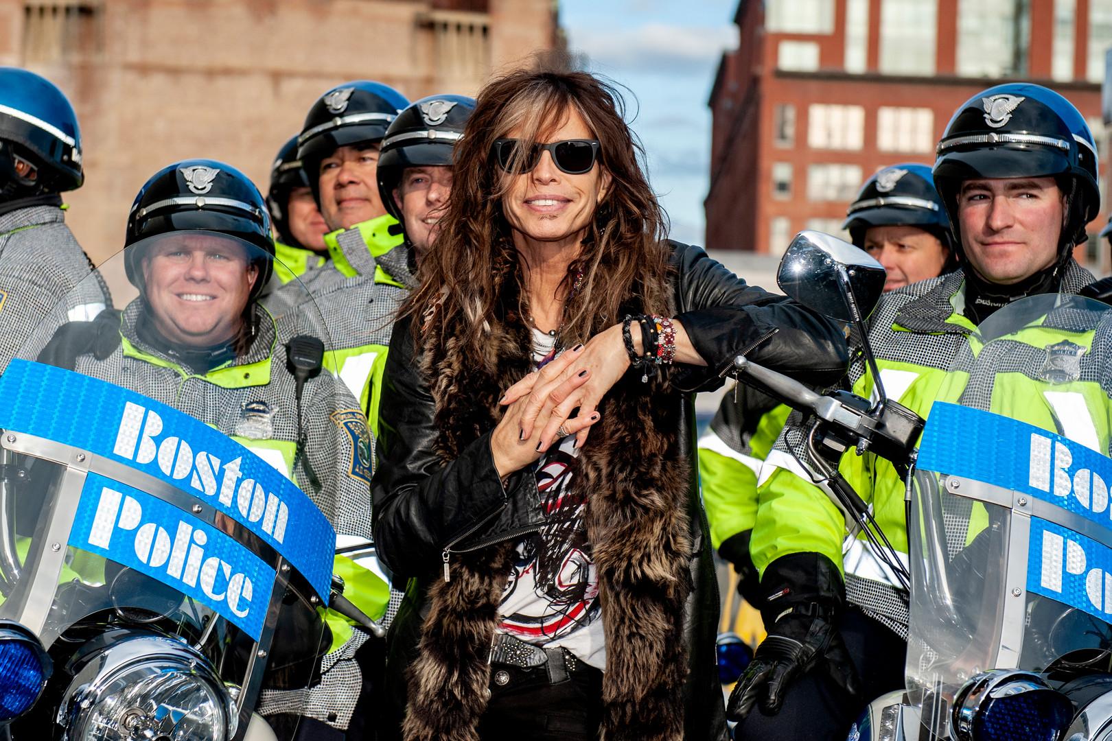 Steven Tyler & Boston Police