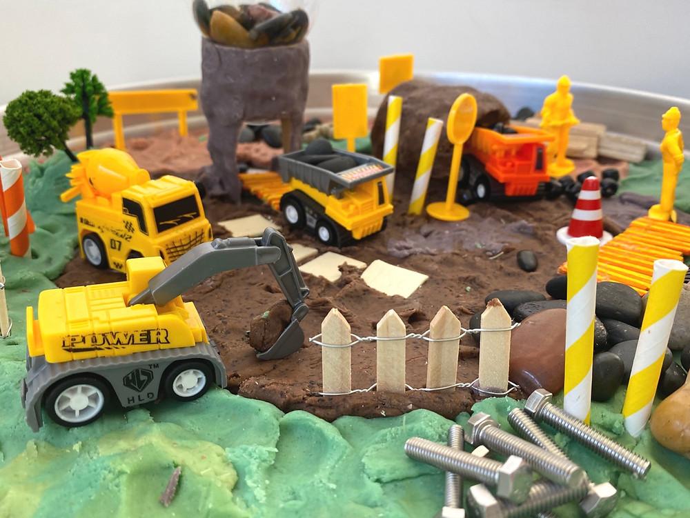 Tuff tray construction site