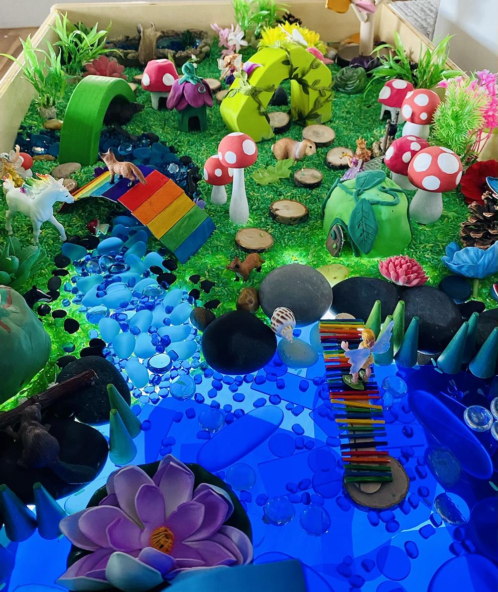 Fairy garden small world play tuff tray