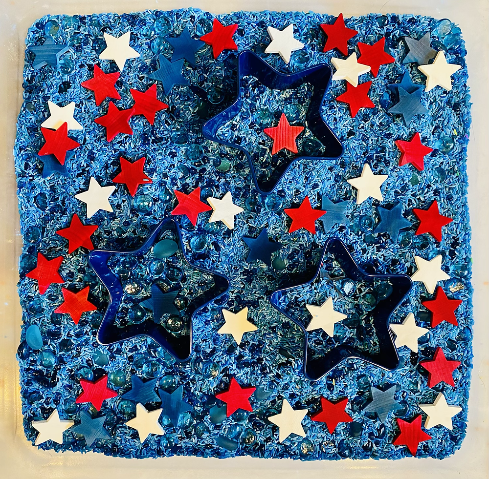 Independence Day sensory bin