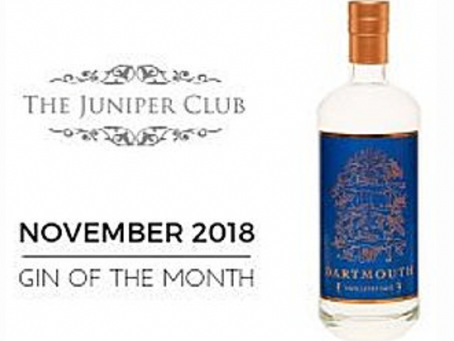 DARTMOUTH ENGLISH GIN SELECTED AS GIN OF THE MONTH BY JUNIPER CLUB