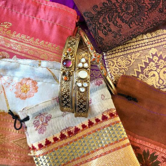 Bracelet SENSI ♡ tourmaline ♡ oeil de tigre ♡ corail