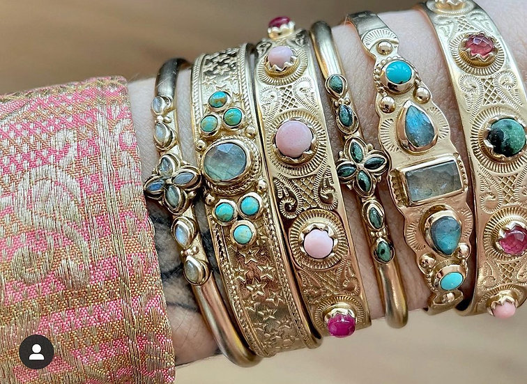 Bracelet FLORA ♡ labradorite