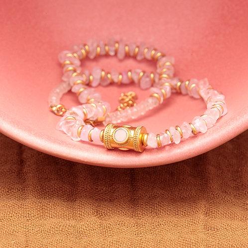 Collier PABLO ♡ quartz rose