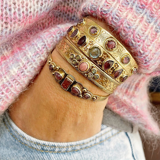 Bracelet IREN ♡ pierre du soleil ♡ lépidolite