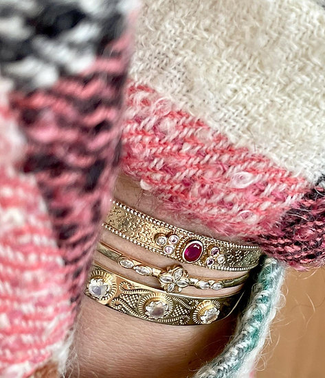 Jonc SENSI ♡ rubis ♡ saphirs ♡ diamants