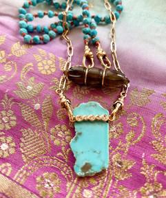 collier jasmine turquoise