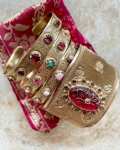 manchette et bracelet tourmaline