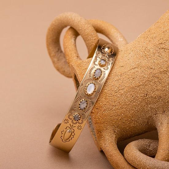 Bracelet SUZETTE ♡ nacre ♡ pierre de lune