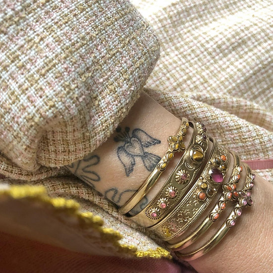 Bracelet JODI  ♡ tourmaline ♡ oeil de tigre