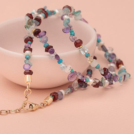 bracelet/collier SIMON ♡ multistones