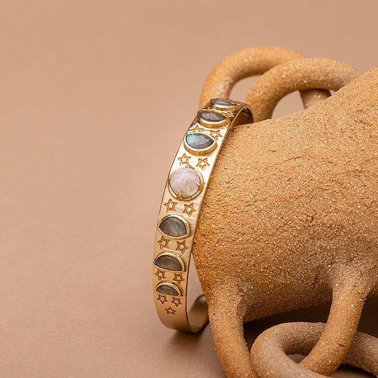 Bracelet LUNA ♡ pierre de lune ♡ labradorite