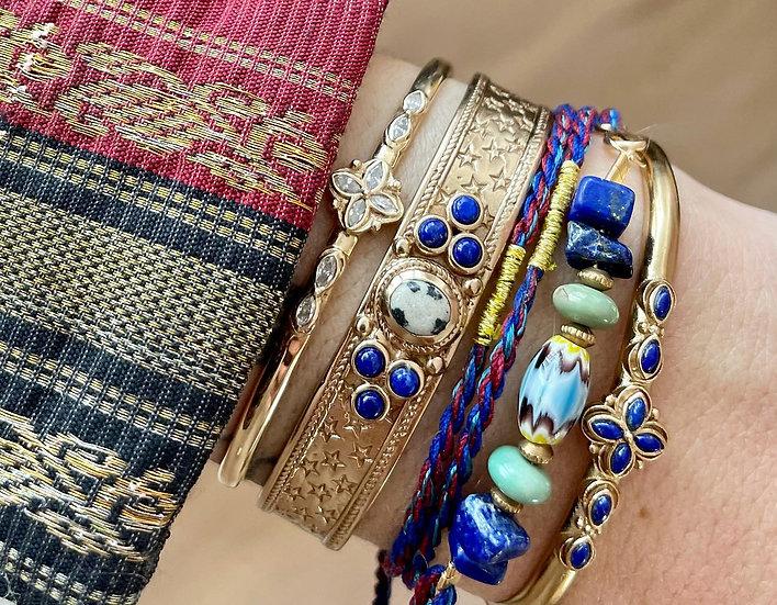 Bracelet SENSI ♡ lapis lazuli ♡ jaspe dalmatien