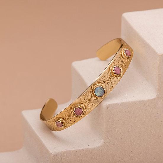 Bracelet MEERA ♡ labradorite ♡ rhodonite