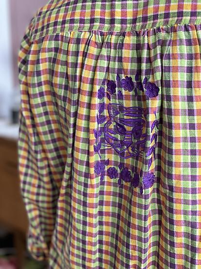 Chemise tiger ♡ violet madras