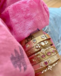 bracelets or et pierres fines