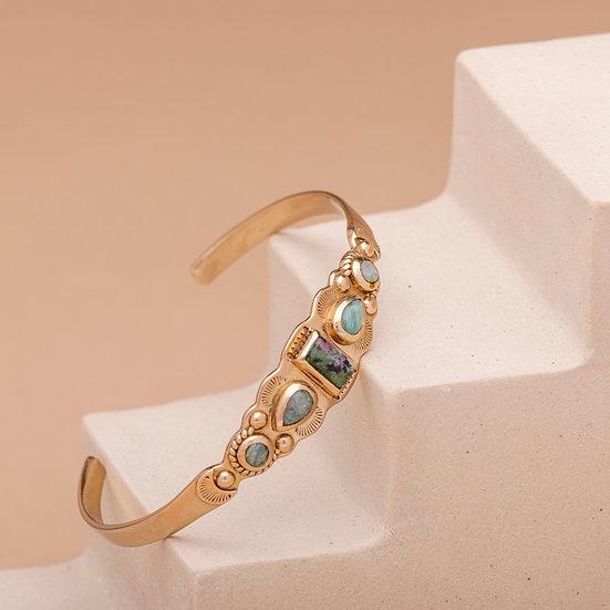 Bracelet IREN ♡ rubis zoisite ♡ amazonite
