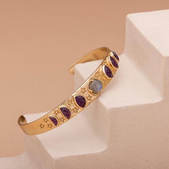 Bracelet LUNA ♡ labradorite ♡ améthyste