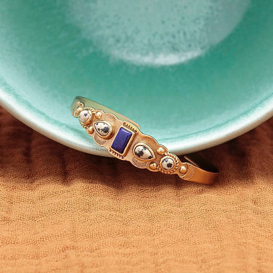 Bracelet IREN ♡ lapis lazuli ♡ jaspe dalmatien