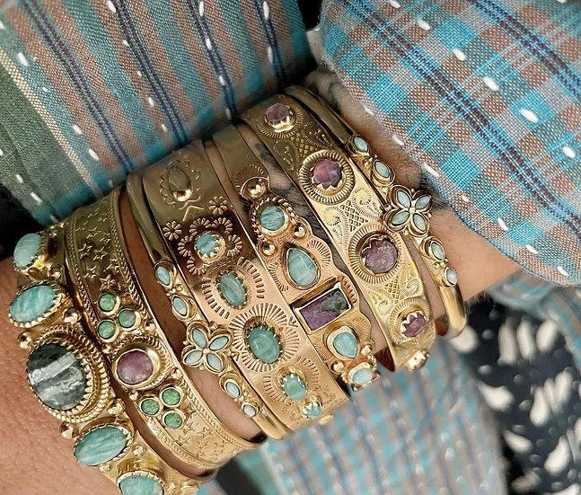 Bracelet SUZETTE ♡ amazonite
