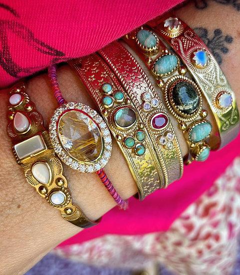 Bracelet ELIO ♡ amazonite ♡ jaspe africain
