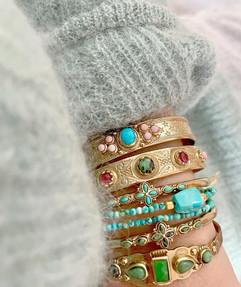 bracelets pierres  créatrice nantaise labradorite turquoise opale