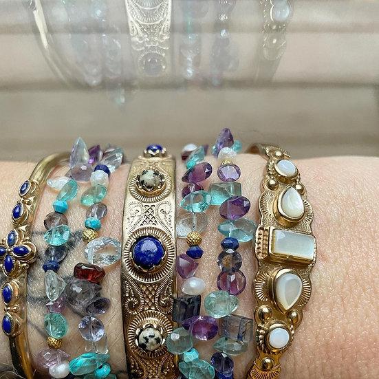 Bracelet MEERA ♡ lapis lazuli ♡ jaspe dalmatien