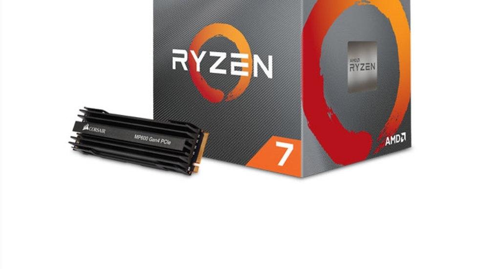 AMD Ryzen 7 3700X + Corsair 1TB MP600 PCIe 4.0 M.2 Bundle