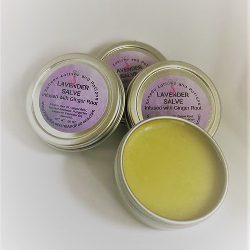 Lavender Salve Infused with Ginger Root