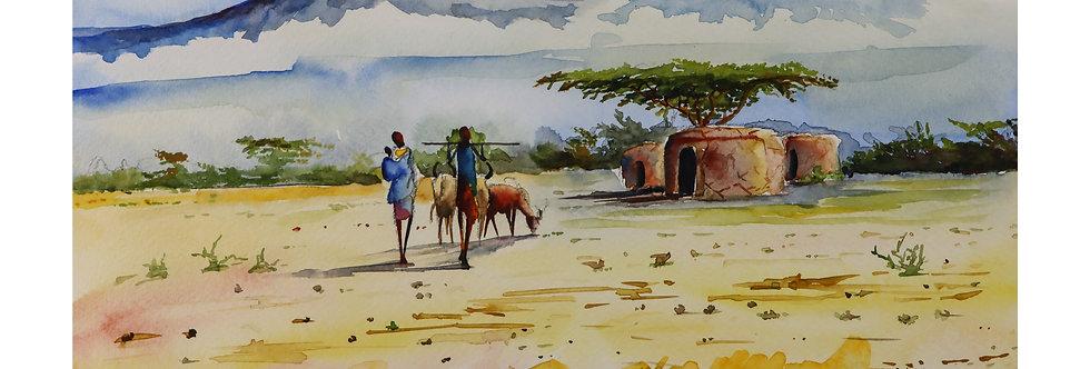 Maasai Familie