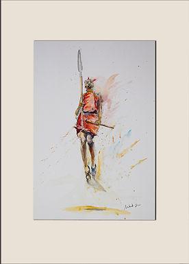 Jumping Maasai Warrior