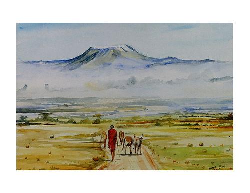 Weide am Fuße des Kilimandjaro