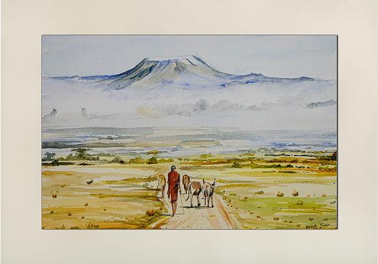Grazing at the foot of Mt Kilimanjaro
