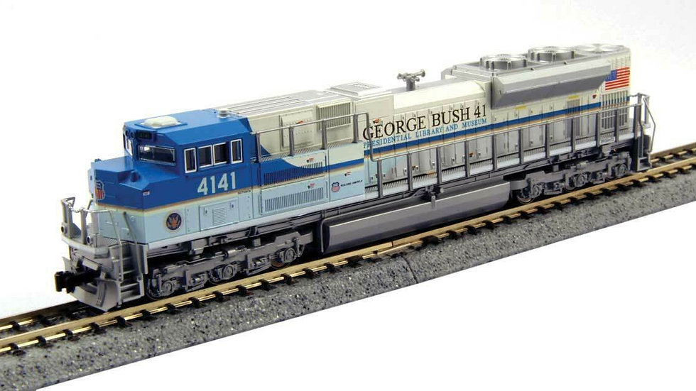 """N Scale Kato UP SD70ACe""""George Bush""""#4141 DCC Ready 176-8411"""