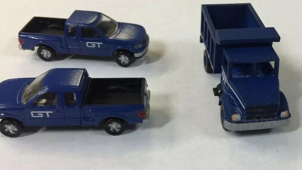 GT Grand Trunk N Scale Vehicle Set.. Atlas F-150 x 2 MMM 3D Print Dump Truck