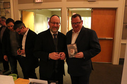 Rabbi Lipschutz and Alan Solon