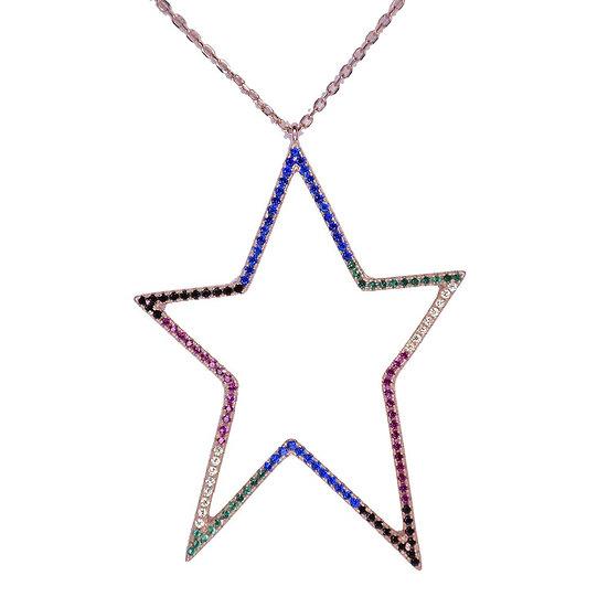 שרשרת כוכב חלול צבעוני