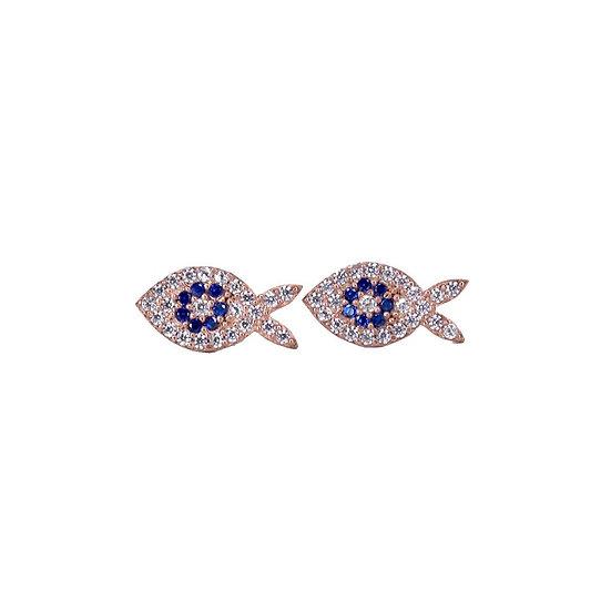 עגילי דג צמודים