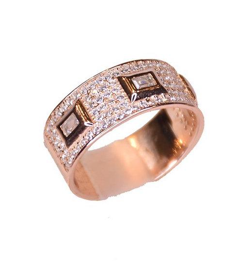 טבעת משובצת מלבנים