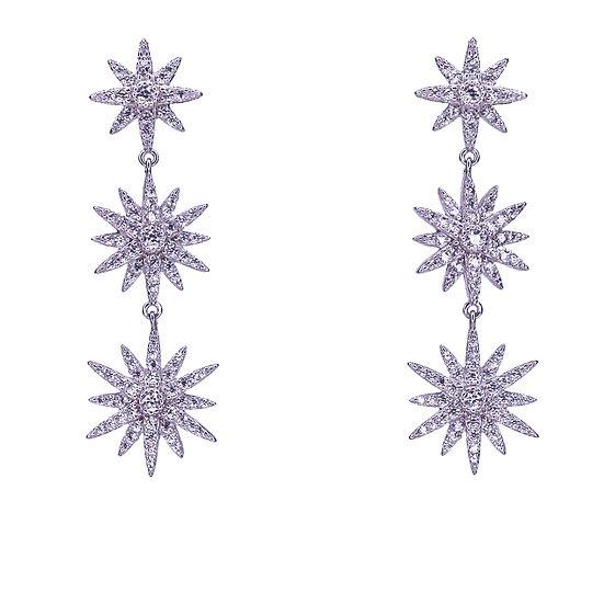 עגילי כוכבים זיקוקים נופלים