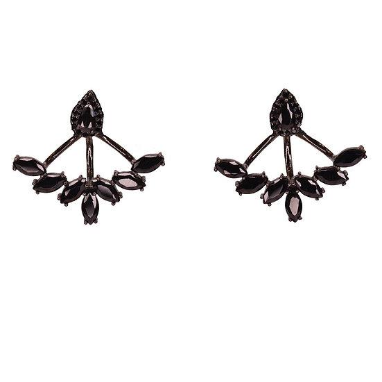 Black Jennifer Earrings